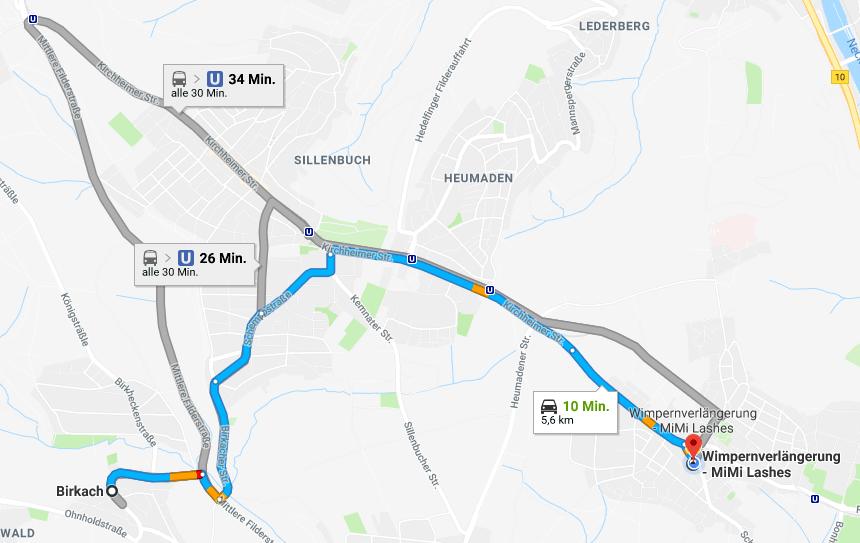 Wimpernverlängerung in Stuttgart Birkach