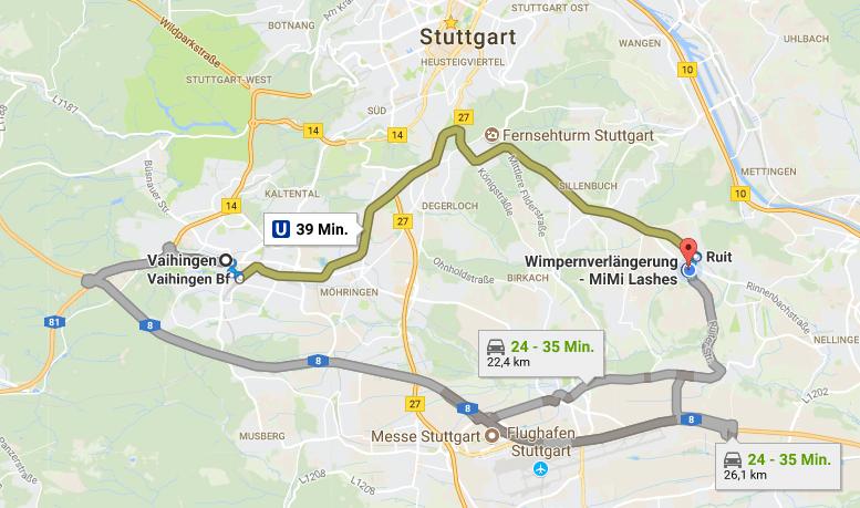 Wimpernverlängerung in Stuttgart Vaihingen