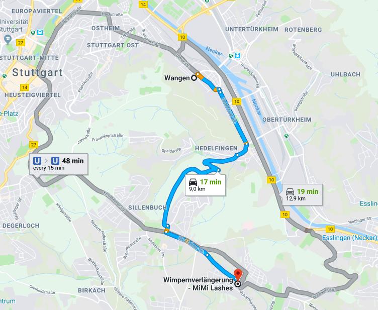 Wimpernverlängerung in Stuttgart Wangen