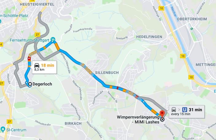 Wimpernverlängerung in Degerloch Stuttgart