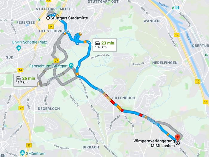 Wimpernverlängerung in Stuttgart Stadtmitte