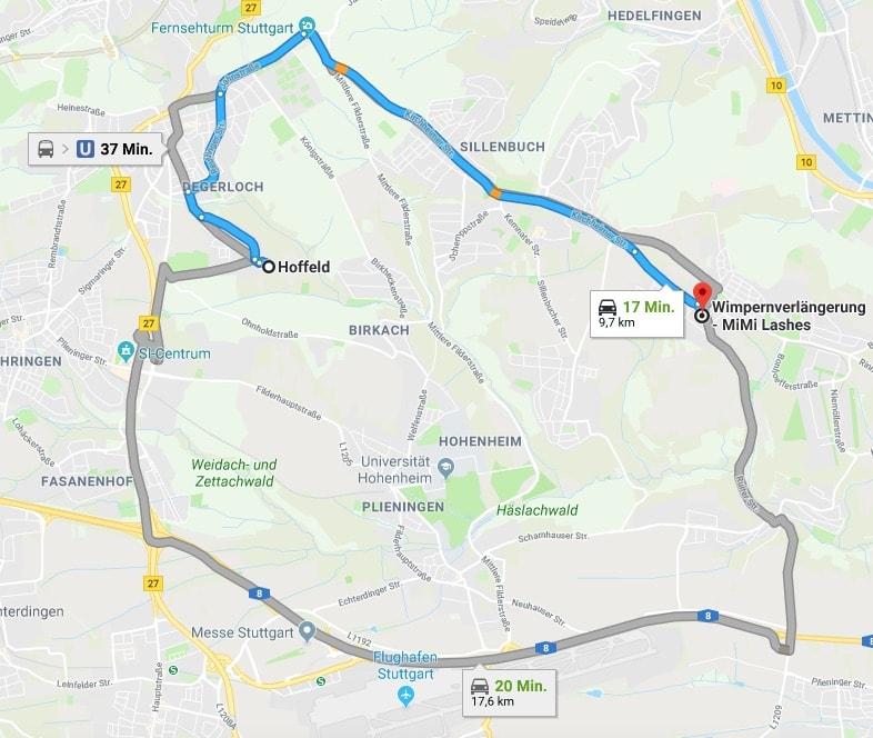 Wimpernverlängerung Stuttgart Hoffeld