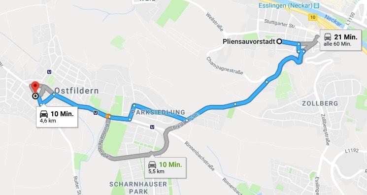 Wimpernverlängerung Esslingen Pliensauvorstadt